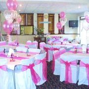 pink themed hall from hire